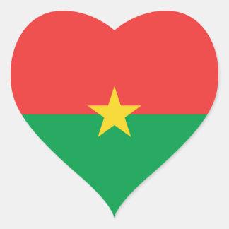 Burkina Faso Flag Heart Sticker