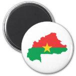 Burkina Faso Flag map BF 6 Cm Round Magnet