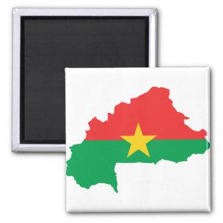 Burkina Faso Flag map BF Magnet
