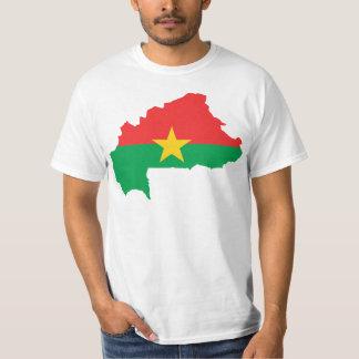 Burkina Faso Flag map BF Shirt
