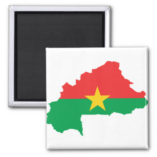 Burkina Faso Flag map BF Square Magnet