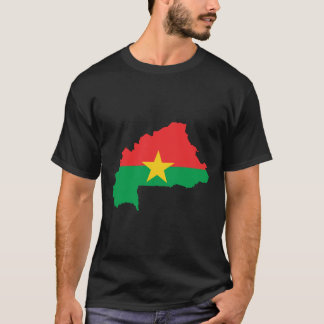 Burkina Faso Flag Map T-Shirt
