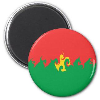 Burkina Faso Gnarly Flag Magnet