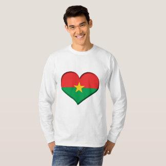 Burkina Faso Heart Flag T-Shirt