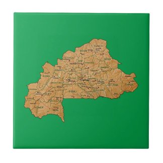 Burkina Faso Map Tile