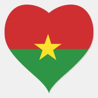 Burkina Faso Heart Sticker