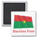 Burkina Faso Waving Flag with Name