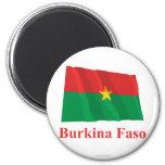Burkina Faso Waving Flag with Name Fridge Magnet