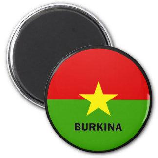 Burkina Roundel quality Flag 6 Cm Round Magnet