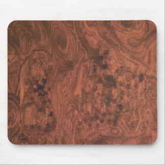 Burl Mahogany Wood Texture Mouse Mat