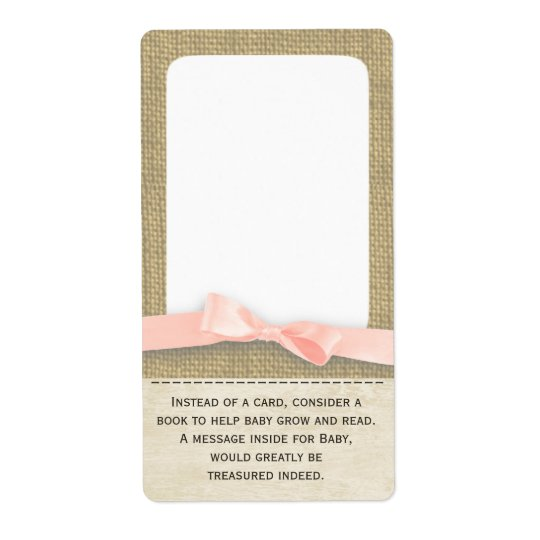 Burlap and Bow Baby Book Tags