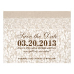 Burlap and Lace | Save the Date Custom Announcements