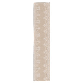 Burlap and Lace Shabby Chic Boho Chic Table Runner