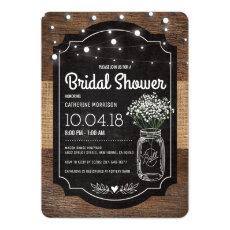 Burlap Baby Breath Wooden Wedding Bridal Shower