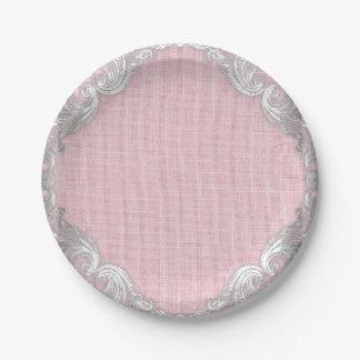 Burlap Baby Shower Paper Plates
