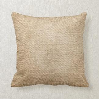 Burlap Background Throw Pillow
