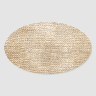 Burlap Background Oval Stickers