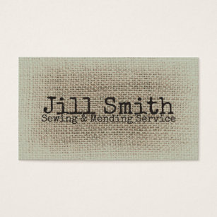 Textile business cards business card printing zazzle uk burlap beige texture woven sewing textile vintage business card reheart Image collections