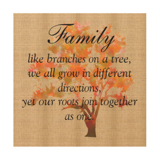 Burlap Board Sign - Family Branches Wood Canvases