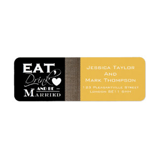 Burlap Eat Drink And Be Married Wedding