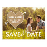 Burlap Heart | Rustic Save the Date
