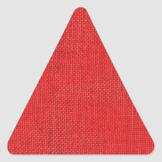 Burlap in Christmas Red Triangle Sticker