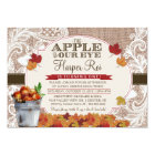 Burlap & Lace Fall Apple Birthday Party Invitation