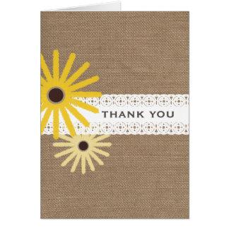 Burlap & Lace Inspired Black Eyed Susans Greeting Card