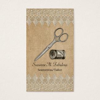 Burlap Lace Vintage Seamstress Tailor Scissors