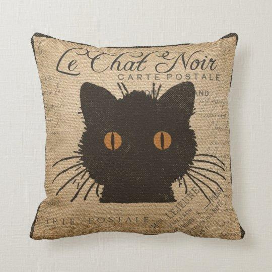 Burlap Le Chat Noir French The Black Cat