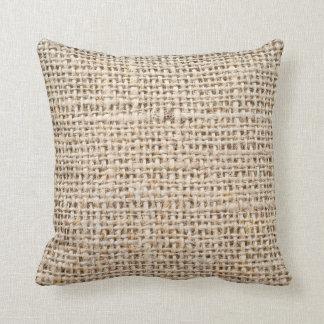 Burlap-look Cushion