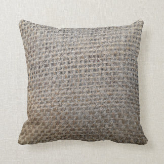 burlap-look pillow