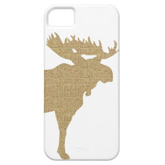 Burlap Moose iPhone 5 Cover