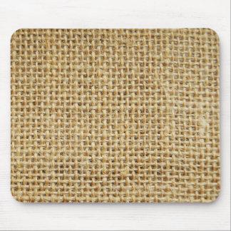 Burlap texture mouse pad
