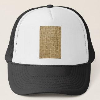 Burlap texture trucker hat