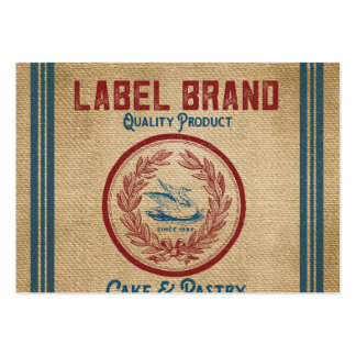 Burlap Vintage Cake Pastry Flour Sack Pack Of Chubby Business Cards