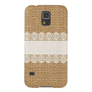 Burlap with Delicate Lace - Shabby Chic Style Galaxy S5 Case