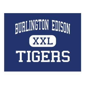 Burlington Edison - Tigers - High - Burlington Postcard