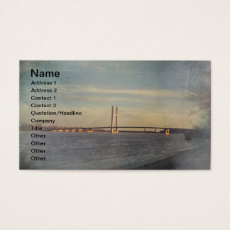 Burlington Iowa Mississippi River In Winter Business Card