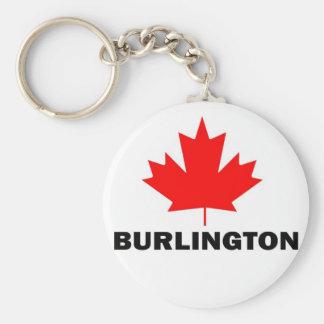 Burlington, Ontario Basic Round Button Key Ring