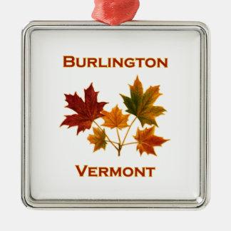 Burlington Vermont Fall Foliage - Maple Leaves Christmas Ornament