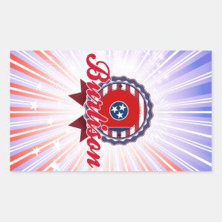 Burlison, TN Rectangular Stickers