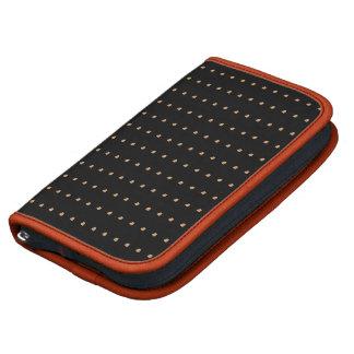 Burlywood Black Polka Dots Folio Smartphone Organizers