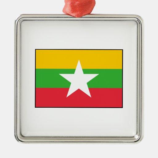Burma Burmese  Myanmar Flag Ornaments