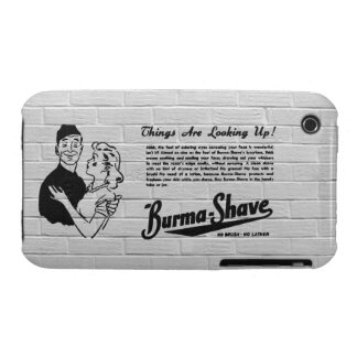 Burma Shave Adoring Eyes iPhone 3 Covers