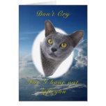 Burmese Blue Pet Sympathy Card
