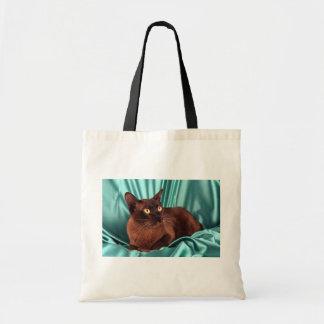Burmese, brown canvas bags
