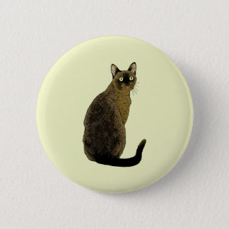 Burmese Cat 6 Cm Round Badge