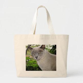 Burmese Cat Tote Bags