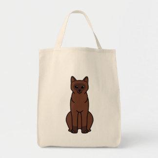 Burmese Cat Cartoon Tote Bags